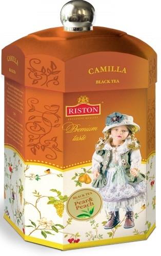 Чай у подарунковій упаковці Ристон Камілла чорний з шматочками персика і груші 125 грам