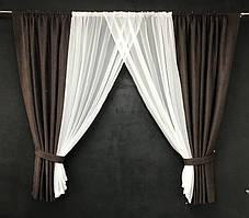 Занавеска на окна || Занавеска на окна с шифоном 4'00*1'80см