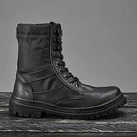 Берцы летние ботинки женские черные натуральная кожа модель Скорпион
