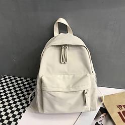 Рюкзак молодежный бежевый из плотного износостойкого холста Goghvinci (AV291)
