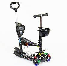 Дитячий самокат Best Scooter 5 в 1 Блискавка Сяючі колеса