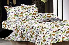 """Детский евро комплект постельного белья """"Динозавры"""""""