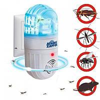 Отпугиватель насекомых и грызунов atomic zapper электромагнитный, против мышей, комаров, мух, тараканов