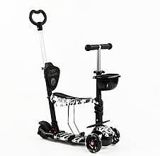 Дитячий самокат Best Scooter 5 в 1 Сoal Сяючі колеса