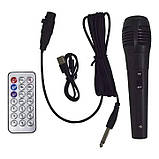 Акустическая аккумуляторная колонка 2x8 дюймов (USB/FM/BT/LED) KIMISO QS-211 BT, фото 3