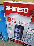 Акустична акумуляторна колонка 2x8 дюймів (USB/FM/BT/LED) KIMISO QS-211 BT, фото 5