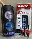 Акустична акумуляторна колонка 2x8 дюймів (USB/FM/BT/LED) KIMISO QS-211 BT, фото 2