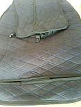 """Накидки на сидіння """"Кристал"""" велюр синій ромб універсальні, фото 2"""