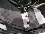 """Накидки на сидіння """"Кристал"""" велюр синій ромб універсальні, фото 3"""
