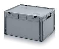 Пластиковый контейнер 800 х 600 х 435 с крышкой