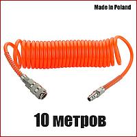 Шланг спиральный пневматический 5х8 мм 10 метров Vorel 81501