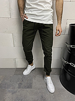 Хакі чоловічі спортивні штани на гумках | Туреччина | бавовна + лікра, фото 1