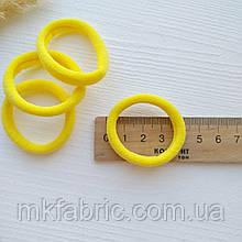 Мягкая эластичная резиночка для хвостиков 4,5 см, ЖЕЛТЫЙ