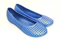 Обувь резиновая для купания женская. Мыльницы / лодочки / балетки. Модель 701 (голубой).