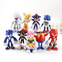 Соник та його друзі Sonic Shadow Tails набір 9 шт 12 см ПВХ колекційні іграшки