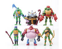 Набір аніме-іграшок японія Черепашки Нінздя 6 фігурок Turtles 13 см аніме
