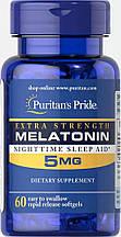 Мелатонін Puritan's Pride Melatonin 5 mg 60 caps