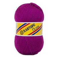 Пряжа Kartopu Flora баклажан №732 для ручного вязания