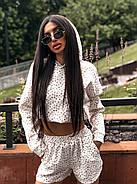 Зручний прогулянковий костюм жіночий двійка (кофта + шорти), 00761 (Білий), Розмір 46 (L), фото 5