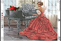 А3Н 161 Схема для вишивки бісером . Піаністка .