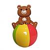 Звуковая неваляшка мишка! цвета в ассортименте, развивающая игрушка,неваляшка медведь