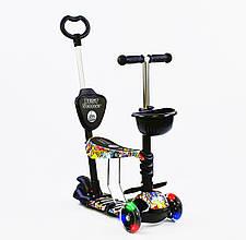 Дитячий самокат Best Scooter 5 в 1 Джокер Сяючі колеса
