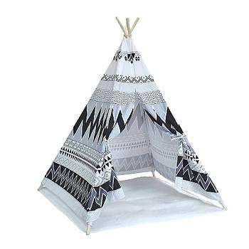 Детский игровой вигвам Littledove AJZ-081 Узоры удачи домик палатка для детей
