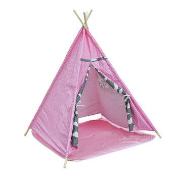 Детская игровая палатка Littledove AJZ-046 Розовый горошек домик вигвам для детей