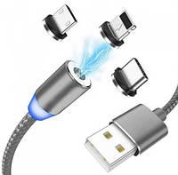 МАГНИТНЫЙ КАБЕЛЬ 360 для зарядки шнур в тканевой обмотке X-Cable Metal Magnetic Cable 360 Lightning для iPhon