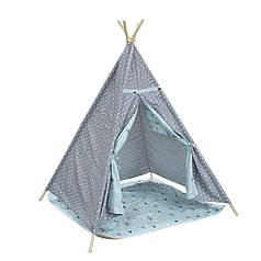 Детская игровая палатка Littledove AJZ-046 Серый горошек домик вигвам для детей