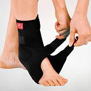 Бандаж неопреновый жесткий на голеностопный сустав с фиксир. ремнем и пласт. вкладками - Ersamed ERSA-214