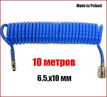 Шланг пневматический спиральный полиуретановый 6,5х10 мм 10 метров Yato YT-24205