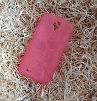 Чехол силиконовый плотный для Lenovo S820, Розовый