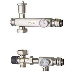 """Смесительный узел KOER KR.S1023 (с термостатическим смесит. клапаном ) 1"""" НР SUS304 (KR2957)"""