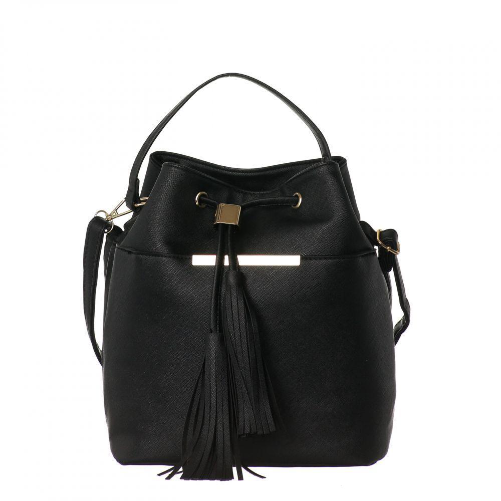 Женская сумка на длинном ремешке Чёрная Формат А5, Adleys FB132