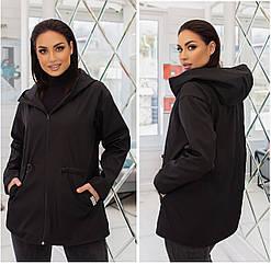 Куртка батал nobilitas 50 - 56 черная плащевка (арт. 21010)
