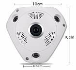 Панорамная IP Камера Видеонаблюдения Потолочная VR CAM 3D Wi-Fi DVR, фото 5