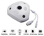 Панорамная IP Камера Видеонаблюдения Потолочная VR CAM 3D Wi-Fi DVR, фото 6