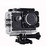 Экшн камера 4K H16-6R wi-fi + Видеорегистратор+ Аквабокс +крепления аналог Go Pro, фото 4
