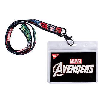 "Бейдж YES на ленте ""Marvel.Avengers"", принт"