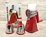 Овочерізка мультислайсер шинковка для овочів і фруктів Kitchen Master Детальніше, фото 7