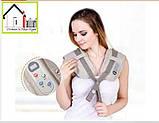 Ударный вибромассажер для спины плеч и шеи Cervical Massage Shawls, фото 4