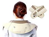 Ударный вибромассажер для спины плеч и шеи Cervical Massage Shawls, фото 5