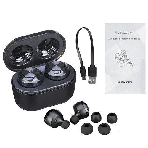 Бездротові Bluetooth-навушники Air Twins A6 з боксом для зарядки