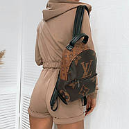 Ультрамодний спортивний жіночий костюм трійка (кофта, шорти, топ), 00768 (Мокко), Розмір 44 (M), фото 2