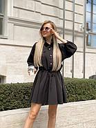 Легке літнє жіноче плаття, рукав ліхтарик ¾, спідниця кльош, 00765 (Чорний), Розмір 44 (M), фото 5