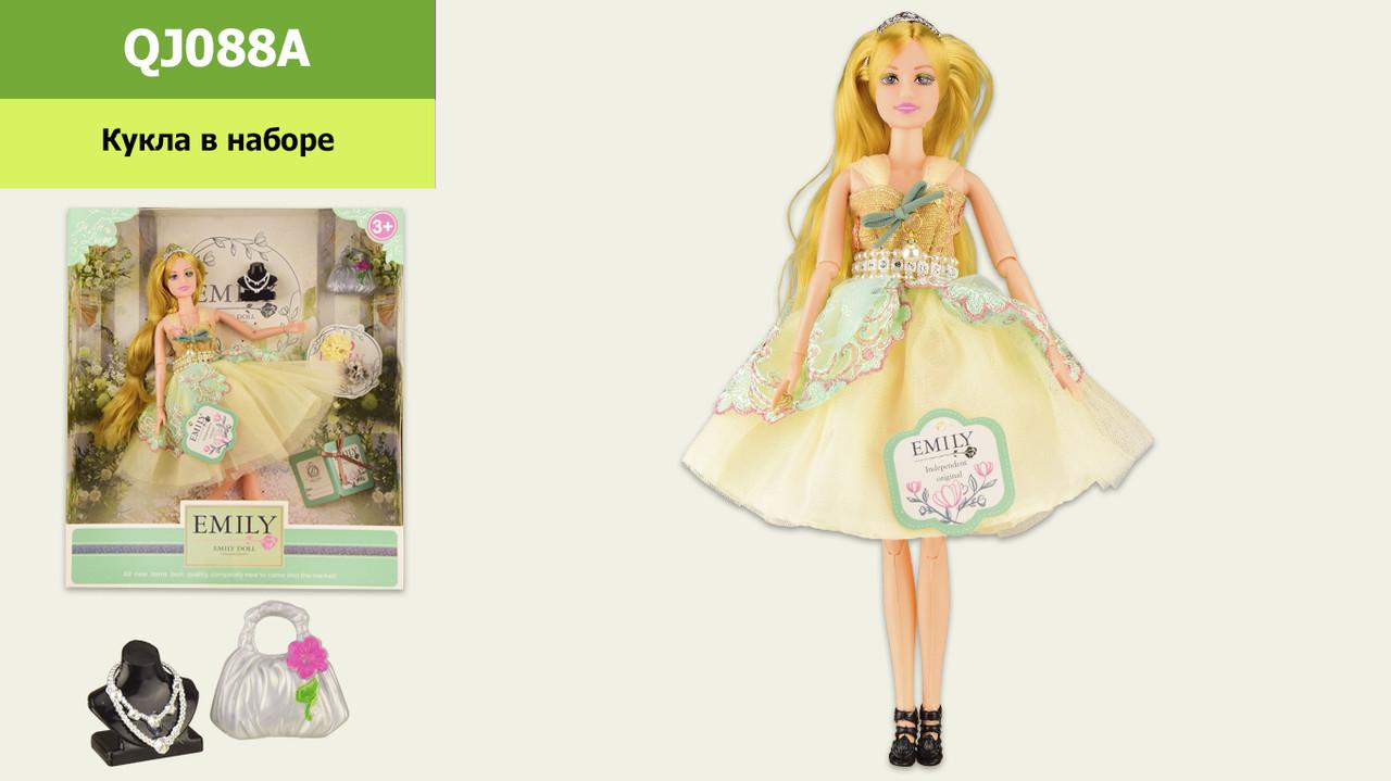"""Лялька """"Emily"""" QJ088A з аксесуарами, шарнірна,р-р ляльки - 29 см, в кор. 28.5*6.5*32.5 см"""