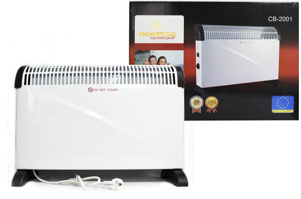 Конвекторный электрический бытовой обогреватель Crownberg CB-2001
