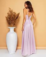Вечірня сукня довжиною в підлогу з відкритою спиною, 00764 (Ліловий), Розмір 44 (M), фото 2