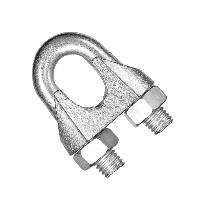 Зажим для троса DIN 741 (діаметр троса) 14мм, фото 1